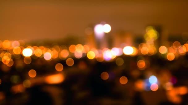 Noční město abstraktní bokeh
