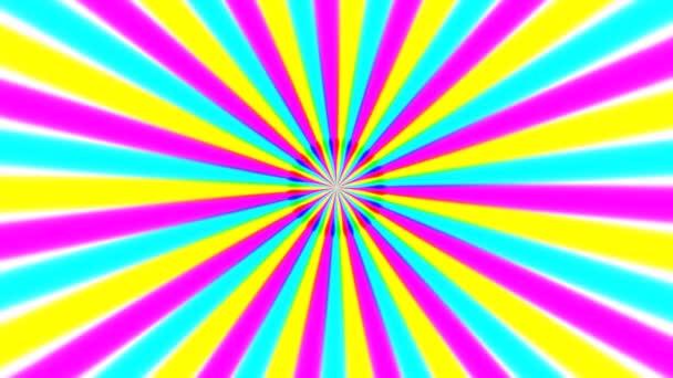 Rotující barevné paprsky
