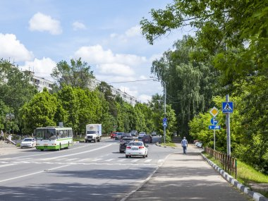 PUSHKINO, RUSSIA, on May 30, 2016. City landscape.