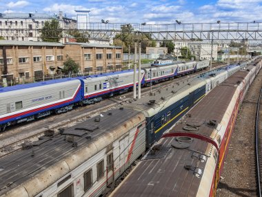 Moscow, Russia, on August 26, 2014, Tracks near the Kazan station