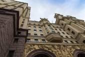 Moskva, Rusko, na 14 října 2014. Architektonický fragment Stalin mrakodrap