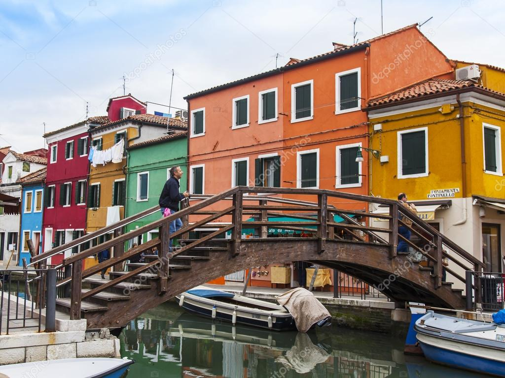 Colorful burano italy burano tourism - Venice Italy On April 30 2015 Burano Island Multi Colored Houses Of Locals Bridge Via Channel Burano The Island One Of Attractive Tourist Objects