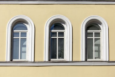 MOSCOW, RUSSIA, on APRIL 12, 2015. Architectural fragment of the typical Moscow city estate of the XIX century