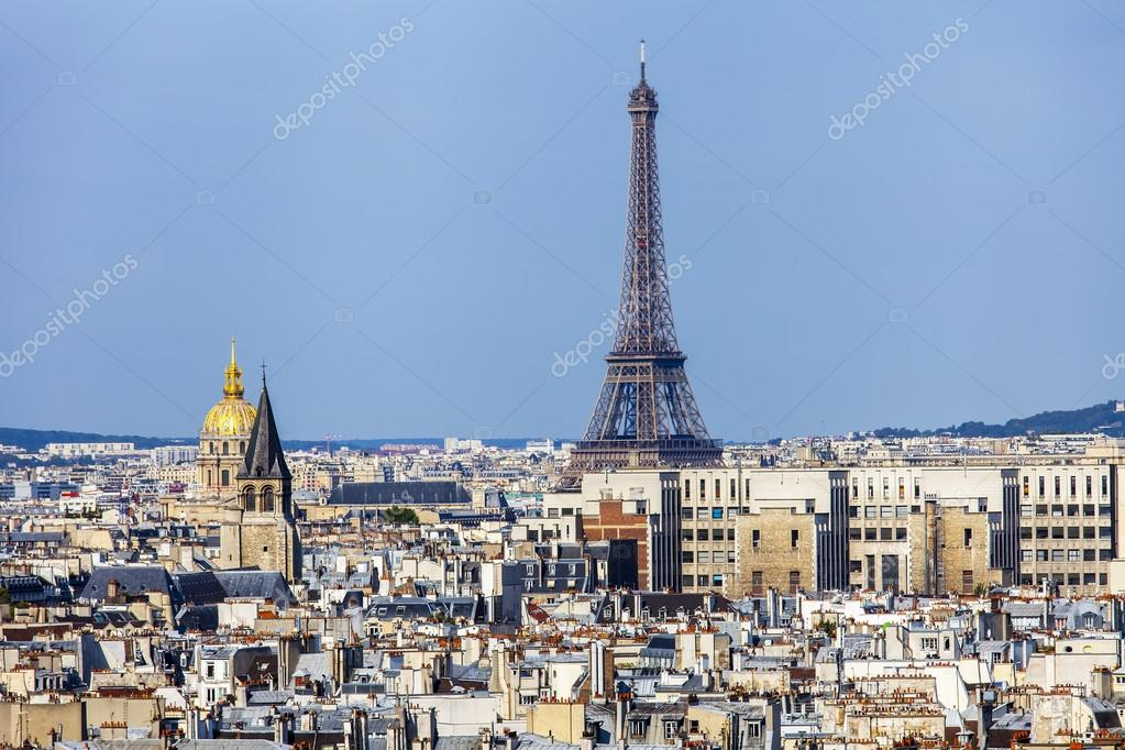 Paris France Le 30 Août 2015 Une Vue De La Ville Depuis