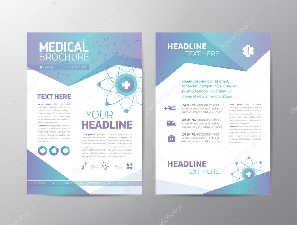 Medical Brochure Leaflet Stock Vector Annafrajtova - Healthcare brochure templates free download