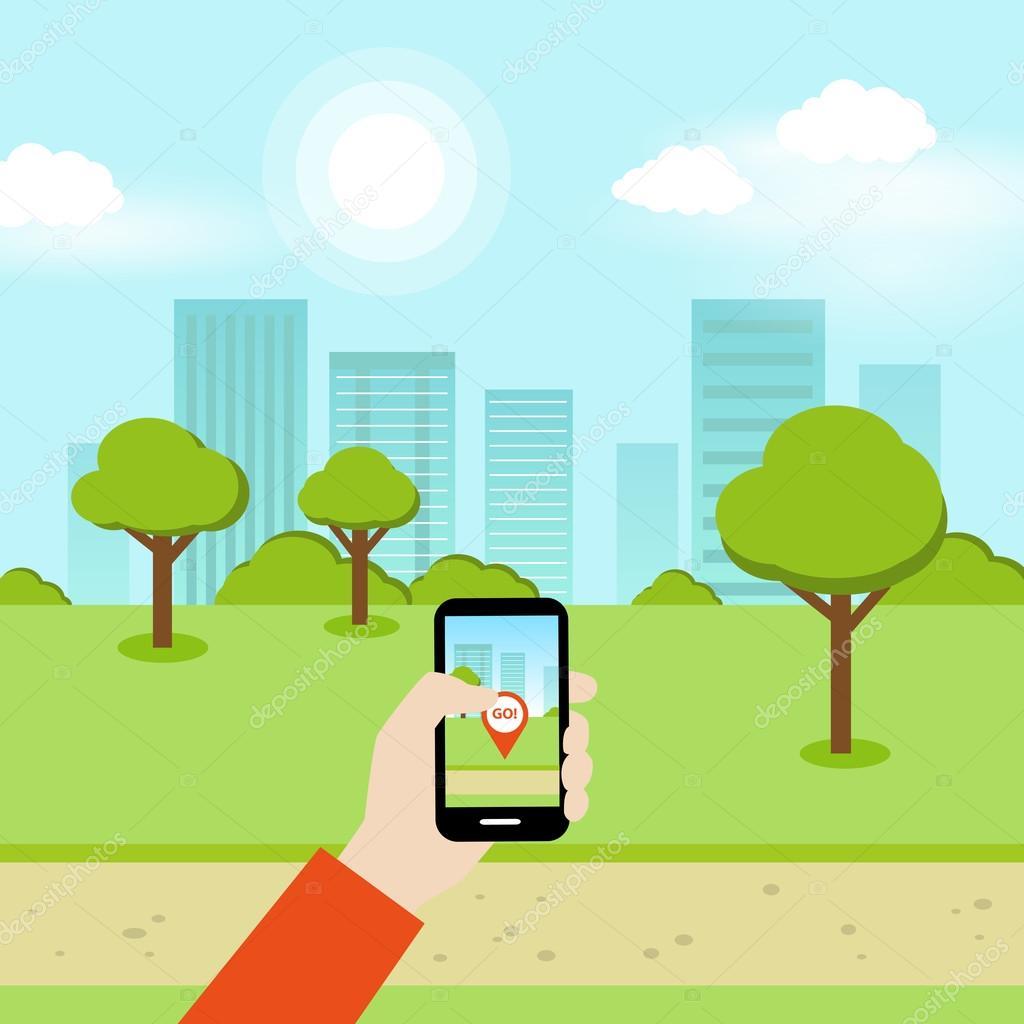 Smartphone Online Geolocation Game