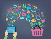 nakupování online pozadí