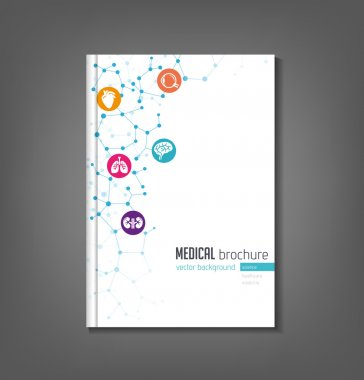 Brochure template - medical topics, healthcare, science, technology. clip art vector