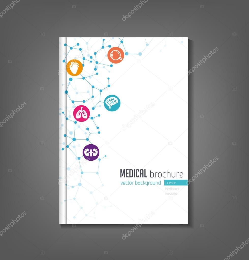 brochure template medical topics healthcare science technology vector by annafrajtova