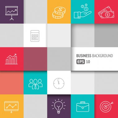 Business Background Squares 2
