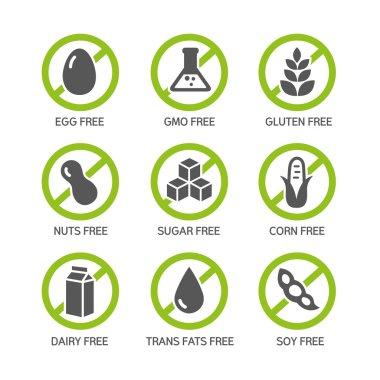 Allergens Icons - GMO free