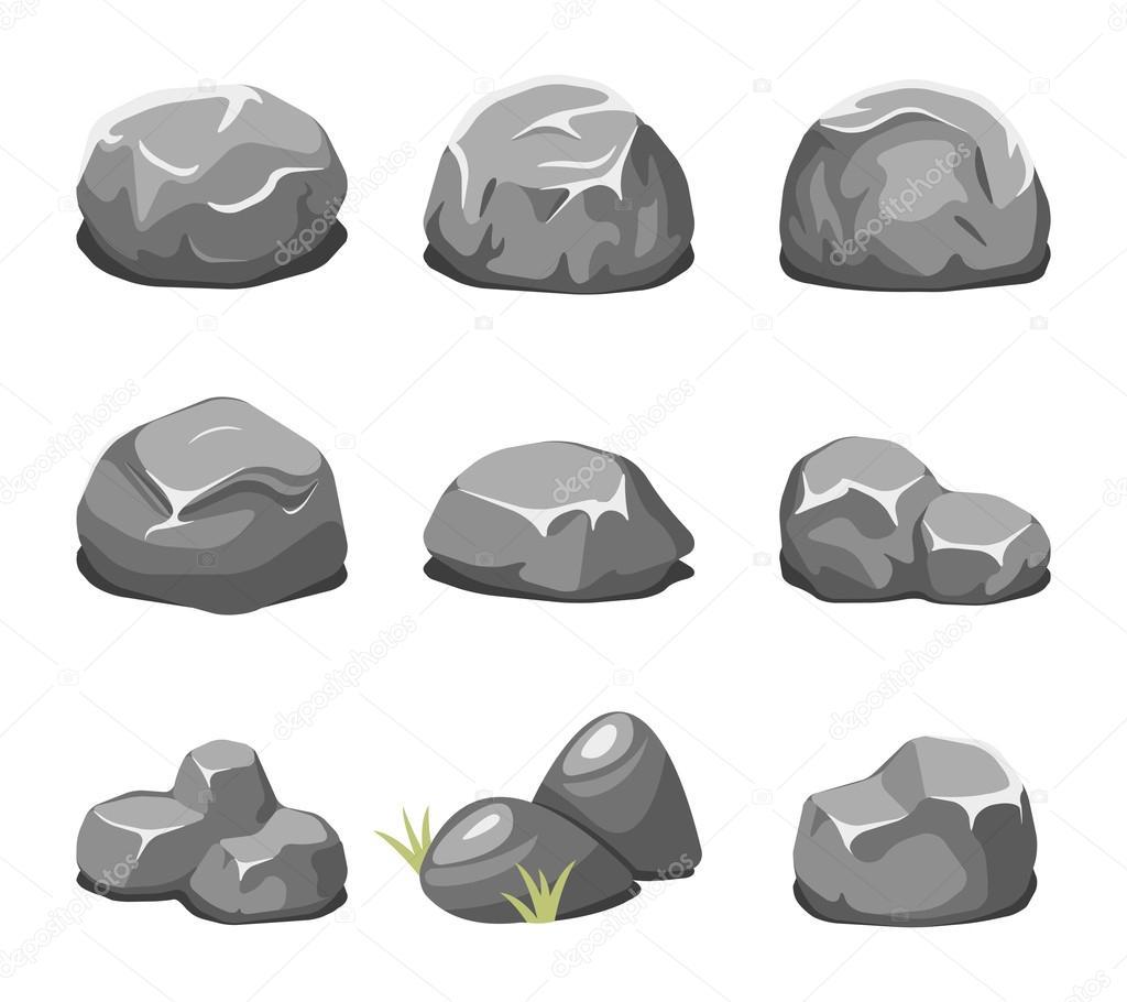 Vector de dibujos animados de piedras y rocas vector de - Dibujos de piedras ...