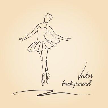 Sketched vector ballerina