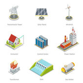 Fotografie Smart grid elements. Power items vector set