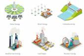 Elektrárna ikony. Zařízení na výrobu elektrické energie a zdrojů
