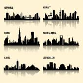Fotografie Middle East cities vector set