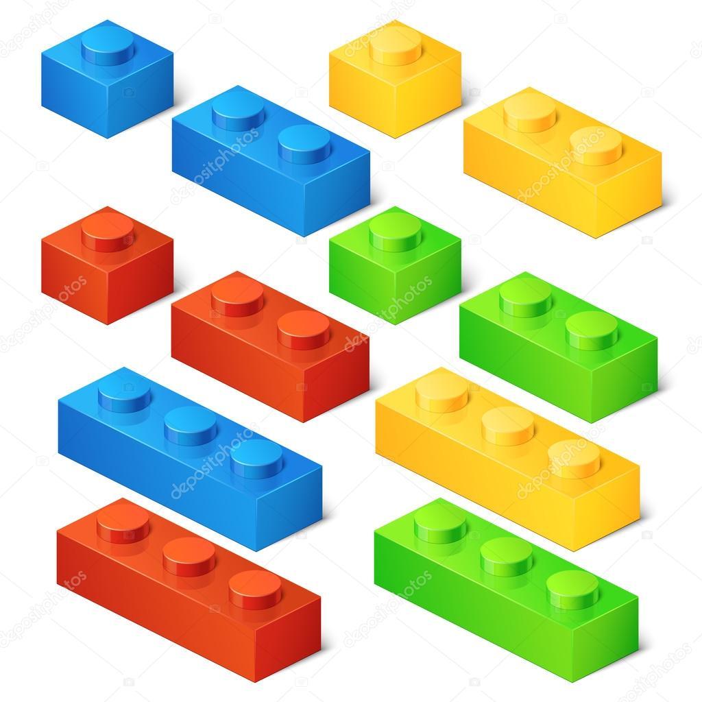 de construction de jouets. Briques de connecteur. 3D jeu ...