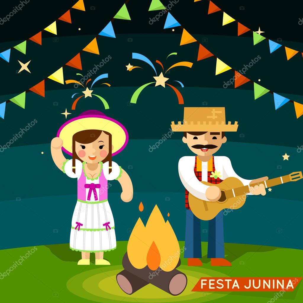 Festa Junina. St Johns june festival