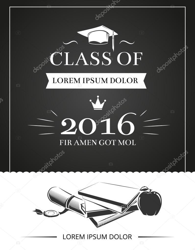 Graduation party invitation vector card — Stock Vector © MSSA #119351886