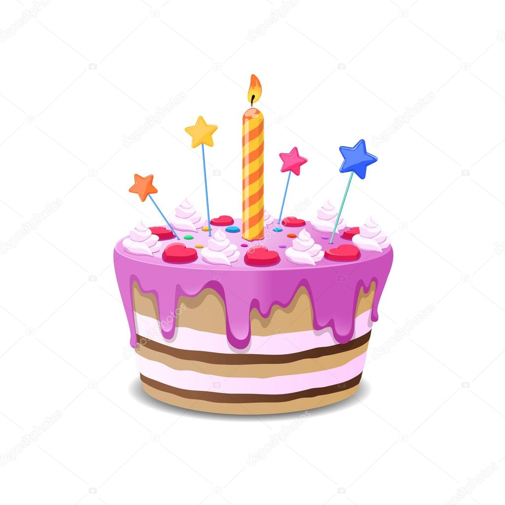 Birthday cake vector Stock Vector MSSA 122856488