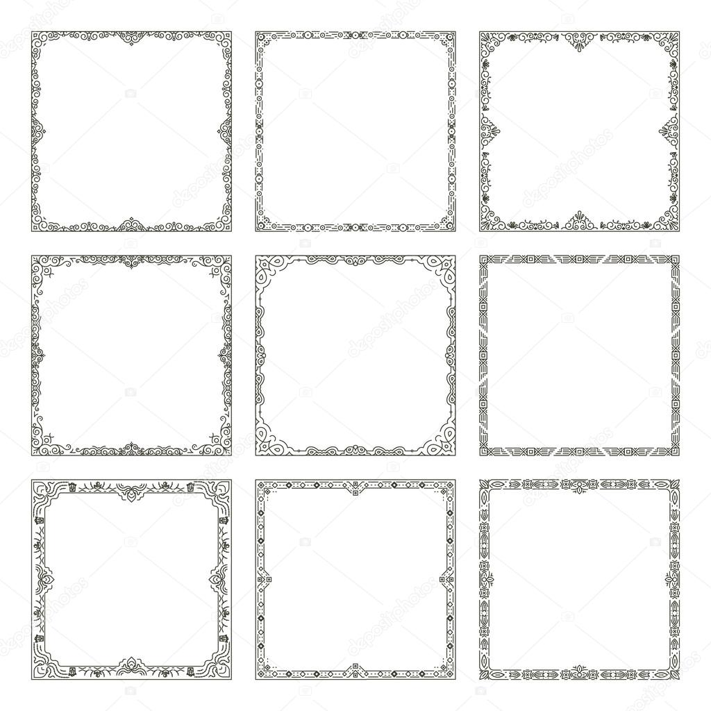 Vector vintage frames and borders — Stockvektor © MSSA #124153824