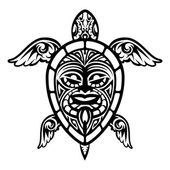 Photo Close up Vector Turtle Polynesian Tattoo
