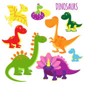 Fotografie vector icons of baby dinosaurs