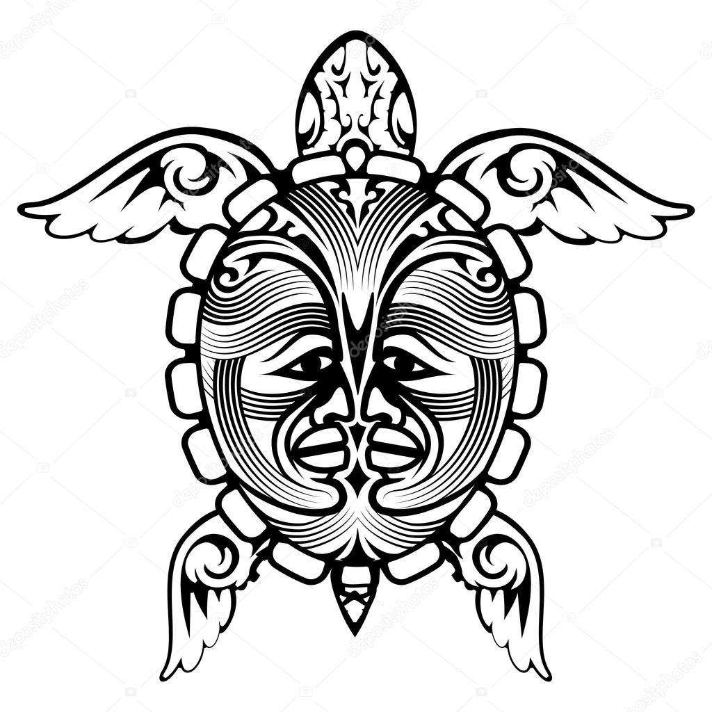Tatouage De Tortue Animaux Totem Tribal Image Vectorielle Mssa