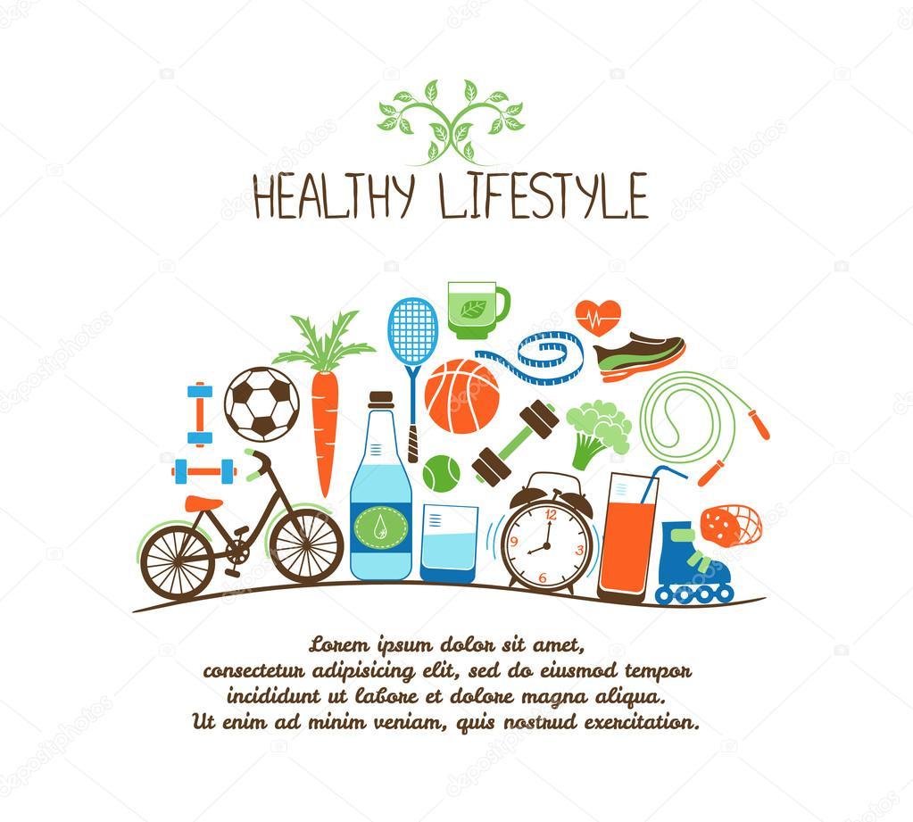 Плакат по здоровому образу жизни на английском