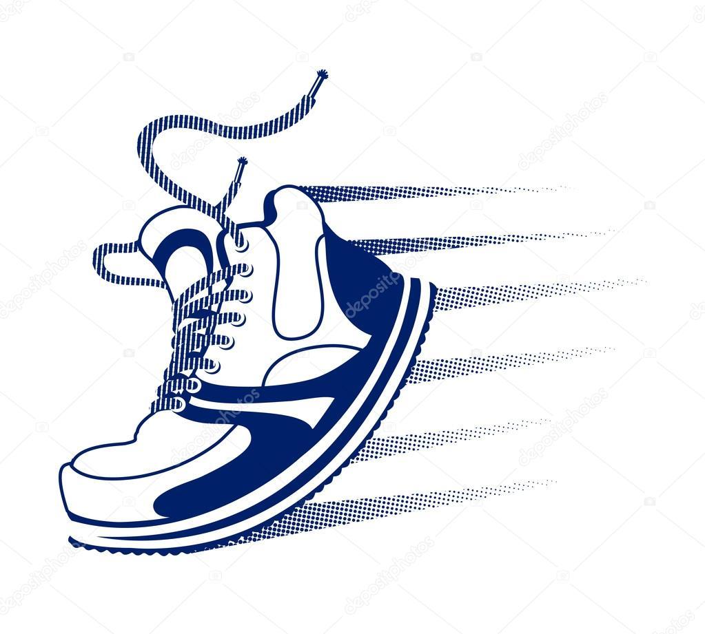 vector running icon stock vector mssa 52942657 rh depositphotos com running shoe vector art running shoe tread vector