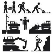 Photo Collection of Black Construction Earthworks Icons