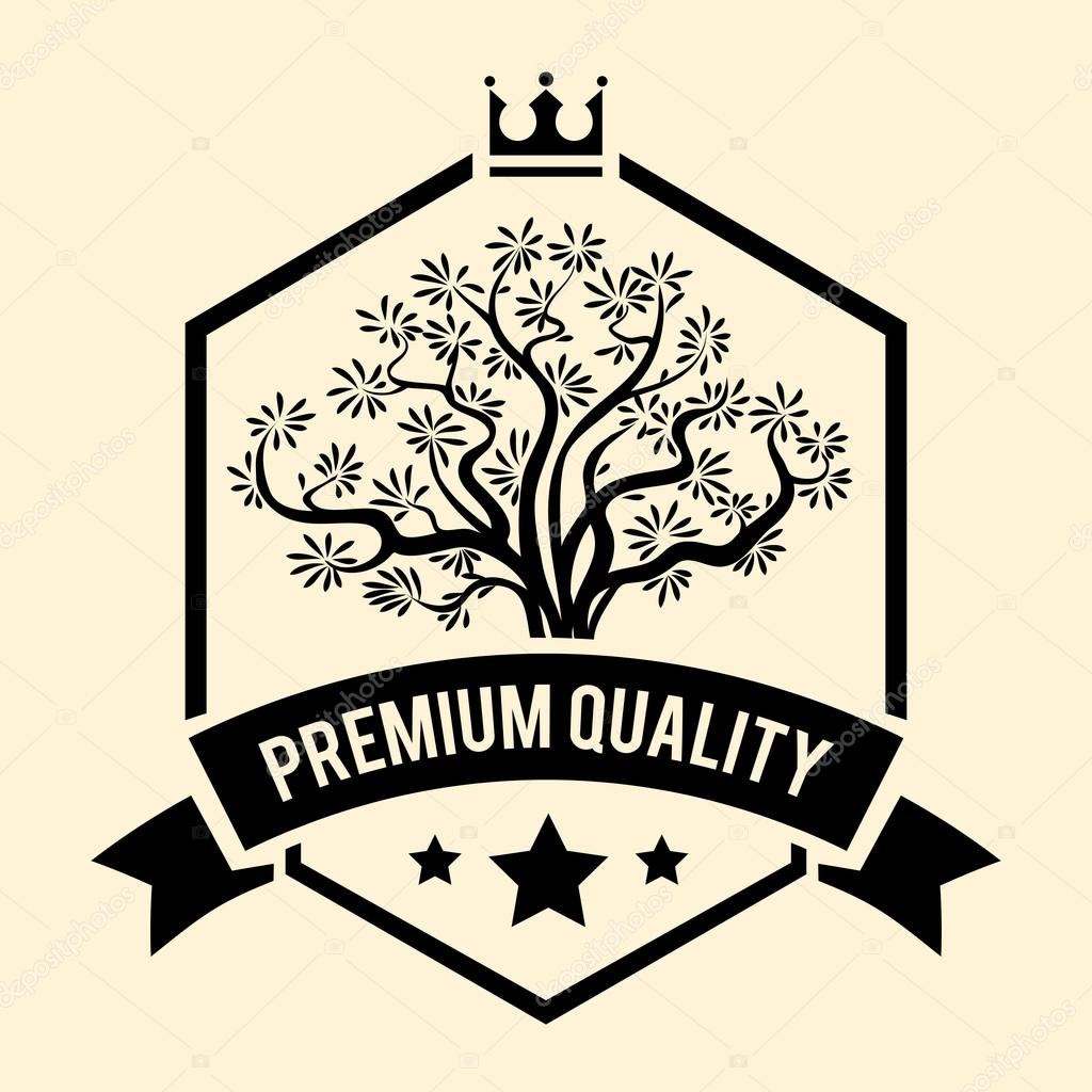 Premium Quality badge or label for Olive Oil