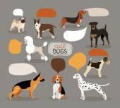 Fotografie Festlegen der Hunderassen mit Sprechblasen