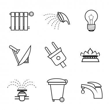 Public service and utilities icons