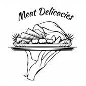 Hús finomságok menü design elem