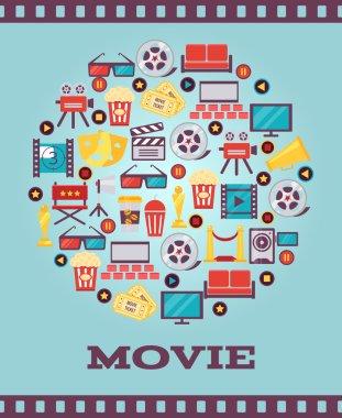 I Love Movies Concept Graphic Designs