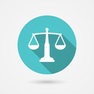 scales balance icon, harmony concept