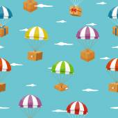 Fotografie Lieferung nahtlose Hintergrund mit Geschenkboxen für Fallschirme