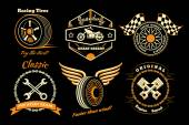 Photo Set of racing badge