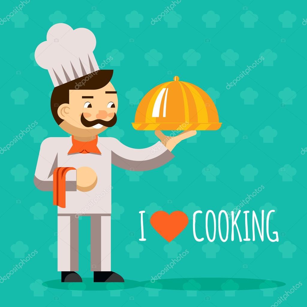 Mi piace cucinare. Cucinare con vassoio e delizioso piatto ...