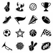 Fényképek Sporteszközök ikonok és a rajongók