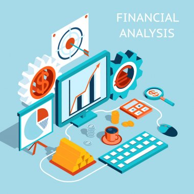 Vector 3D Financial Analysis Concept Design