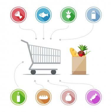 Buying food icons