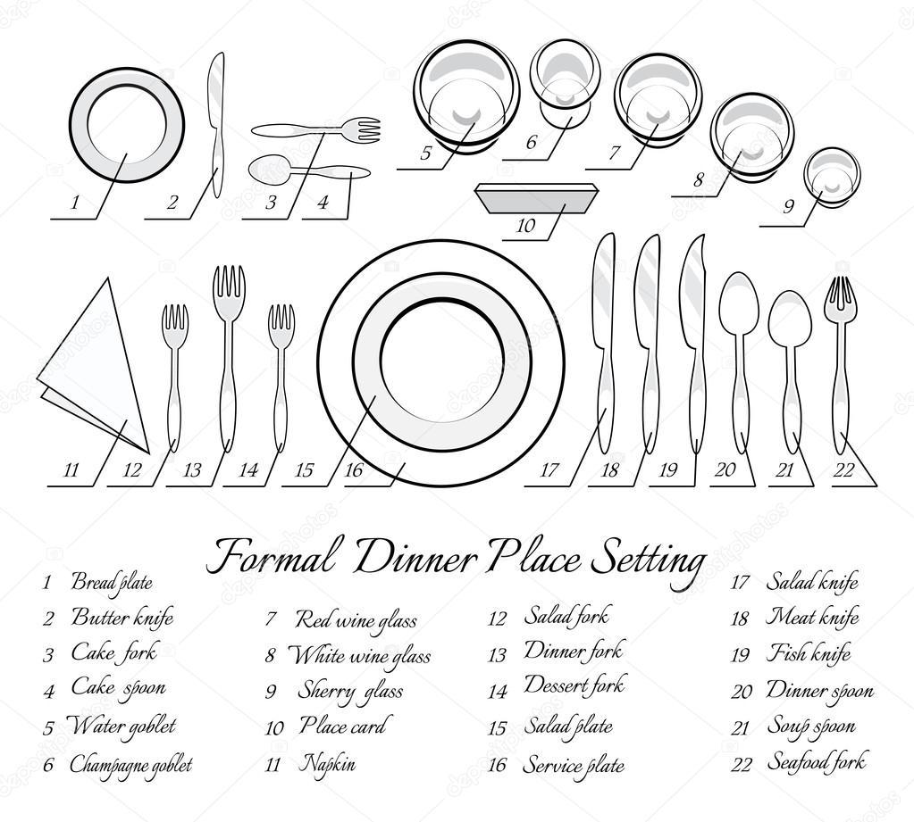 Formal table setting — Stock Vector © MSSA #62288175