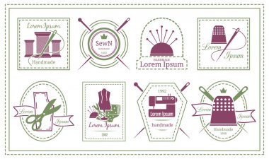 Retro Tailor Labels or Needleworks Emblems