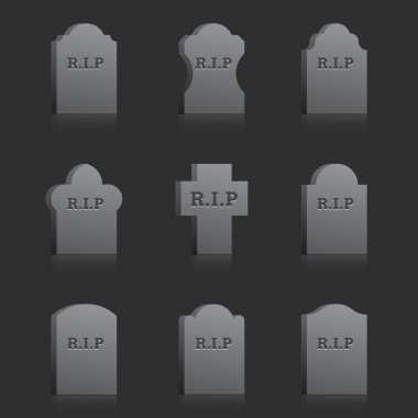Vector Gravestones with RIP