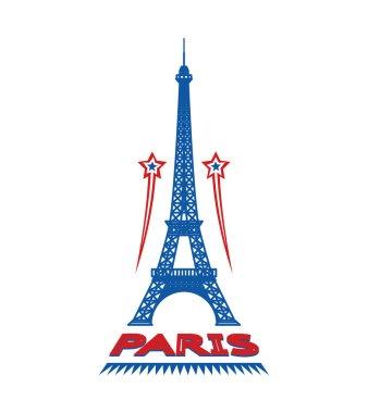 Paris France city label or logo