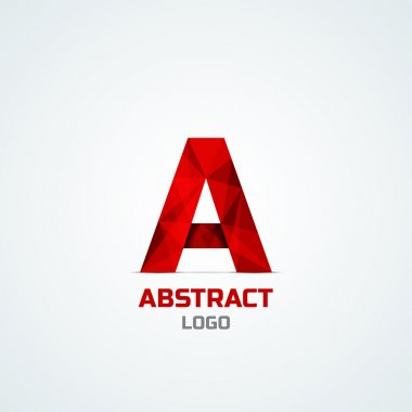 Abstract logo with A letter