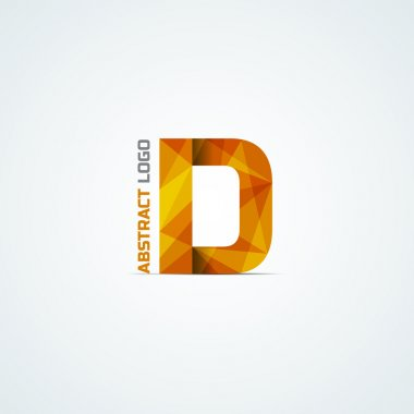 Abstract triangular letter D icon