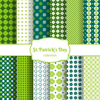 St Patricks day seamless patterns